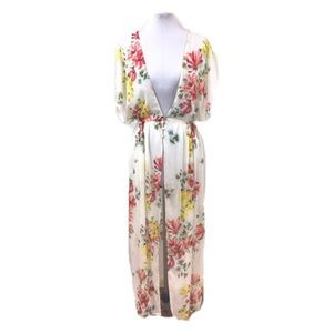 Zara Trafaluc Collection Sz S White floral duster